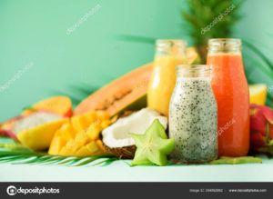 batido de sandia y piña vegano