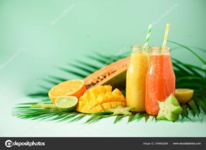 batidos con naranja vegano