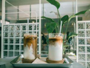 café con leche vegano