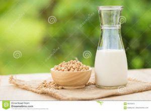 leche de soja con café