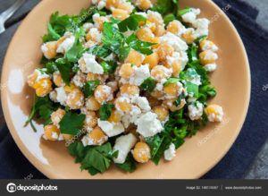 queso vegano con garbanzos