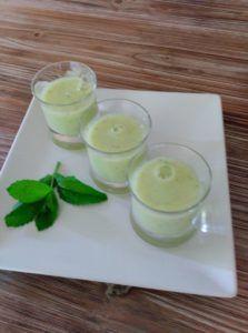 sopa de melon sin nata vegana