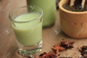 té verde con soja
