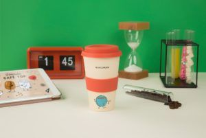vaso de café bambu rosa