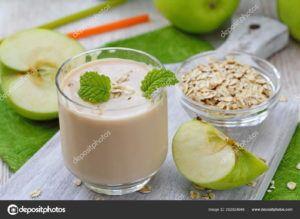 batido de manzana y leche vegano