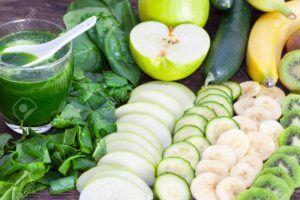 batido de manzana y platano vegano