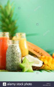 batido naranja vegano