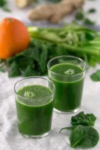 batidos verdes crudos vegano