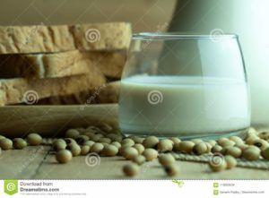 café con leche de soja