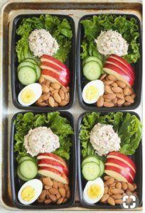 comida vegana preparada