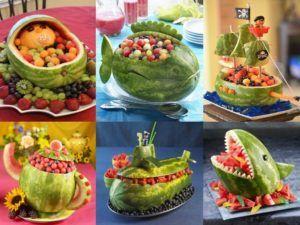 como presentar brochetas de frutas
