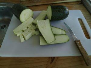 conservar calabacines en botes vegana