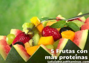 fruta con mas proteinas