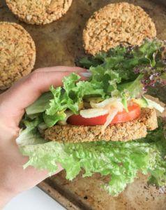 hamburguesa vegana lentejas y quinoa