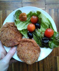 hamburguesas de lentejas y verduras