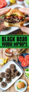 hamburguesas de quinoa y frijoles veganas