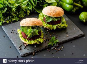 hamburguesas de remolacha veganas