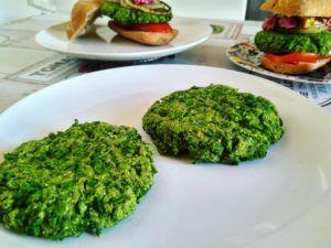 hamburguesas de soja texturizada veganas