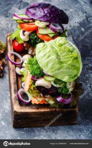 hamburguesas de verduras veganas