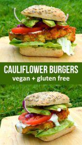hamburguesas sin gluten veganas