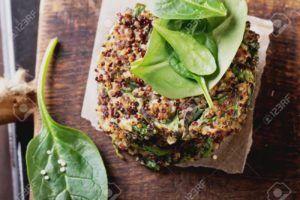 hamburguesas vegetarianas espinacas veganas