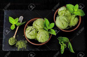 helado de te matcha vegano