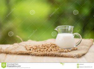 leche de soja con cafe