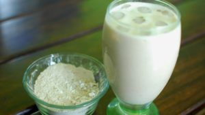 leche de soja o de avena