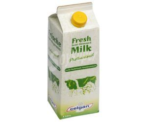 leche desnatada sin lactosa vegana