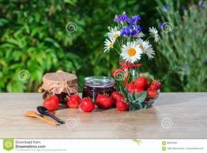 mermelada de fresa vegana