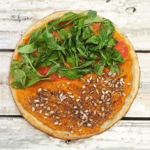 pizza vegana castelar