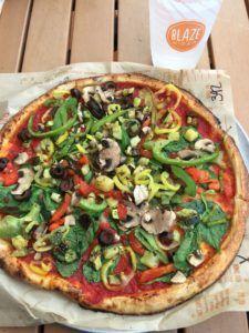 pizza vegana con tofu