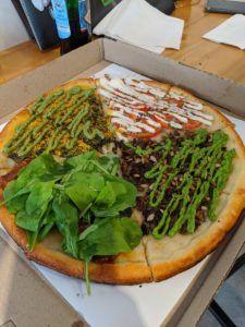 pizza vegana la plata