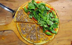 pizza vegana nuñez