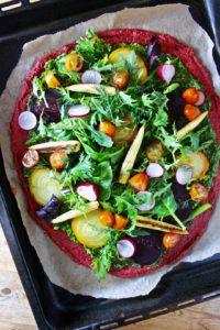 pizza vegana sin gluten receta