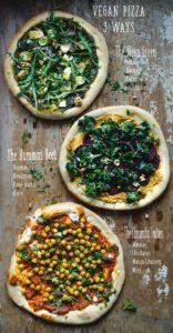 pizza vegetariana receta vegana