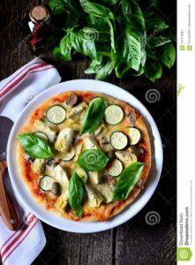 pizzas de calabacin vegana