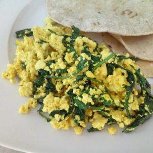 platillos con huevo vegano