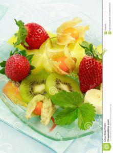postre frutas