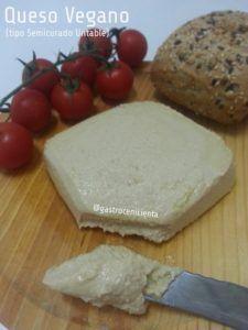 queso vegano con aceite de coco