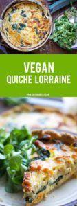 quiche de verduras vegano