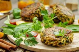 receta de hamburguesa de lentejas veganas