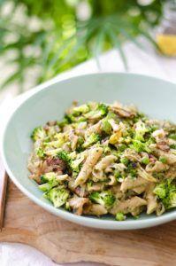 receta de macarrones con nata vegana