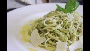receta espaguetis al pesto
