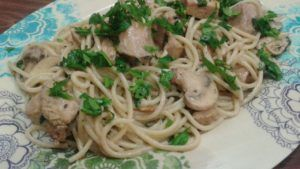 receta espaguetis con champiñones