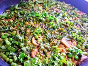 receta fideua verduras