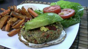 receta hamburguesa quinoa vegana