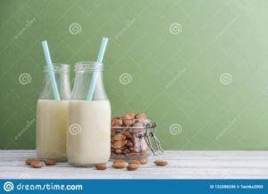 receta leche de almendras vegana