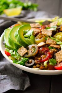 receta lentejas con carne vegana