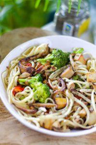 receta pasta con verduras